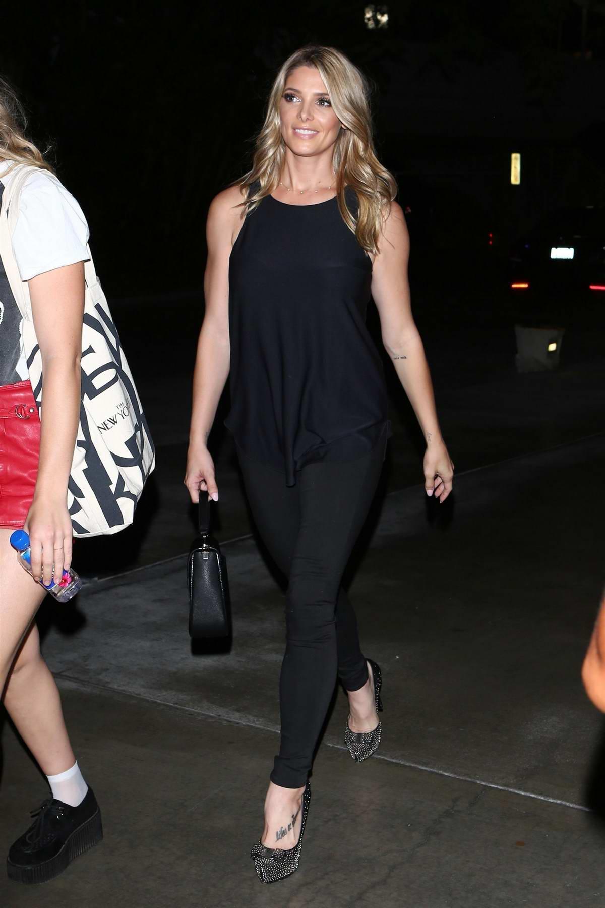 Ashley Greene attends Ed Sheeran in concert in Los Angeles