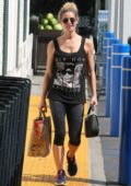 Ashley Greene stopped by the Gas station after some Grocery shopping in Beverly Hills