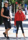 Ashley Tisdale and husband Christopher French stop by a Gym for a morning workout together in Studio City, Los Angeles