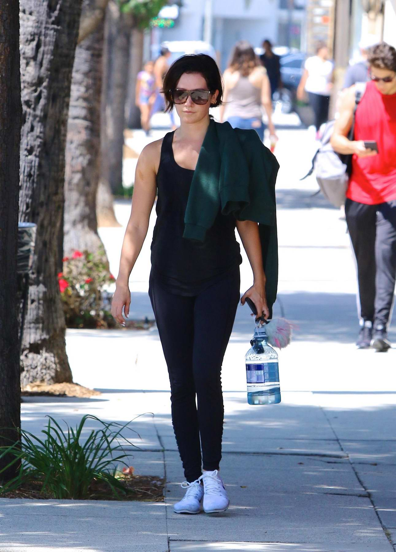 Ashley Tisdale leaving gym after a workout session in Studio City, Los Angeles