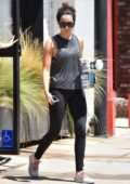 Ashley Tisdale starts her weekend off with a trip to the Gym in Studio City, Los Angeles