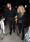 Avril Lavigne and her new boyfriend JR Rotem are spotted at Craigs for a dinner date in West Hollywood