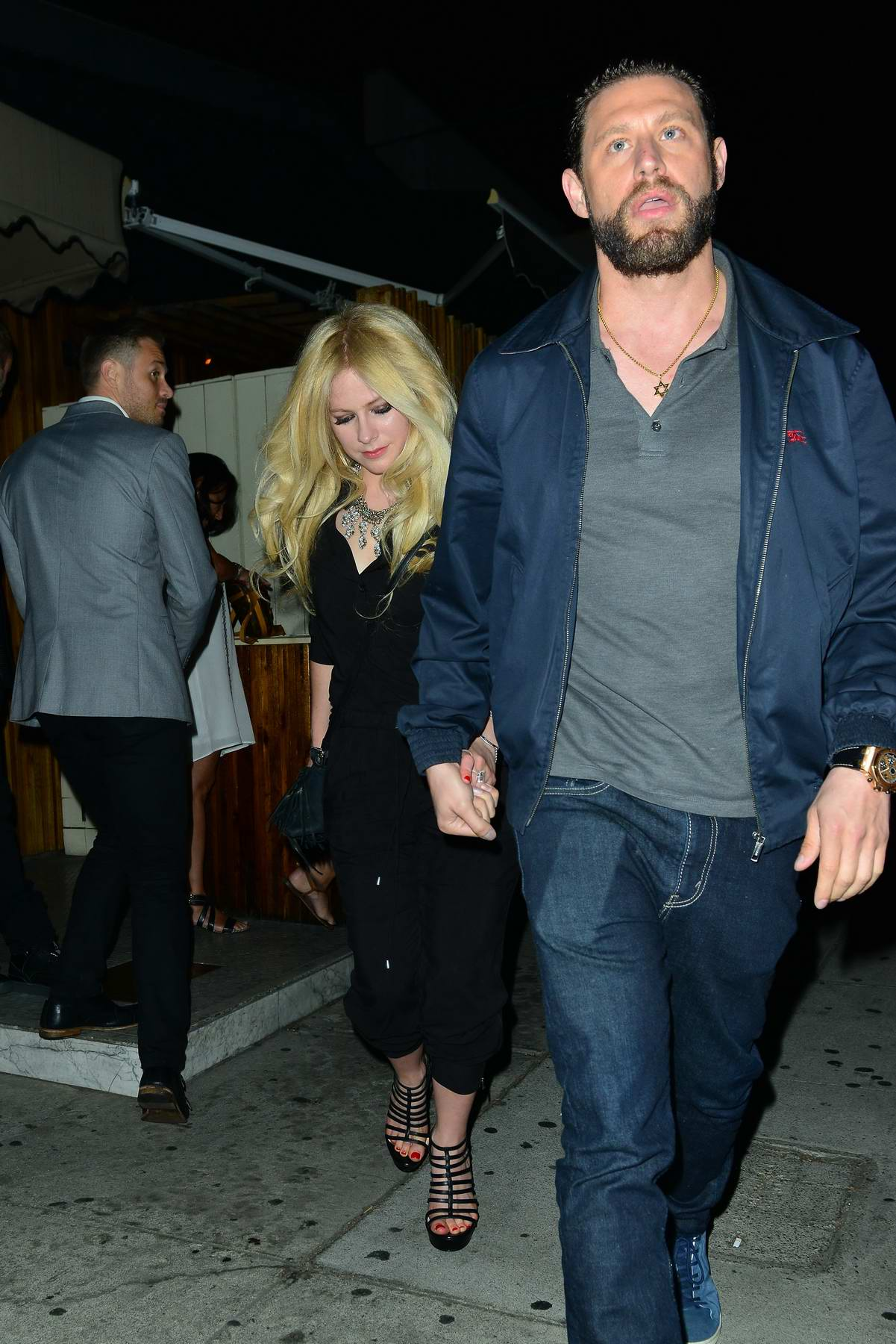 Avril Lavigne seen enjoying a late night out at the Nice Guy in Los Angeles