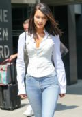 Bella Hadid heading to the Victoria's Secret office in New York City