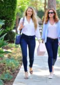 Blake Lively and sister Robyn Lively leaving a restaurant in Long Island, New York