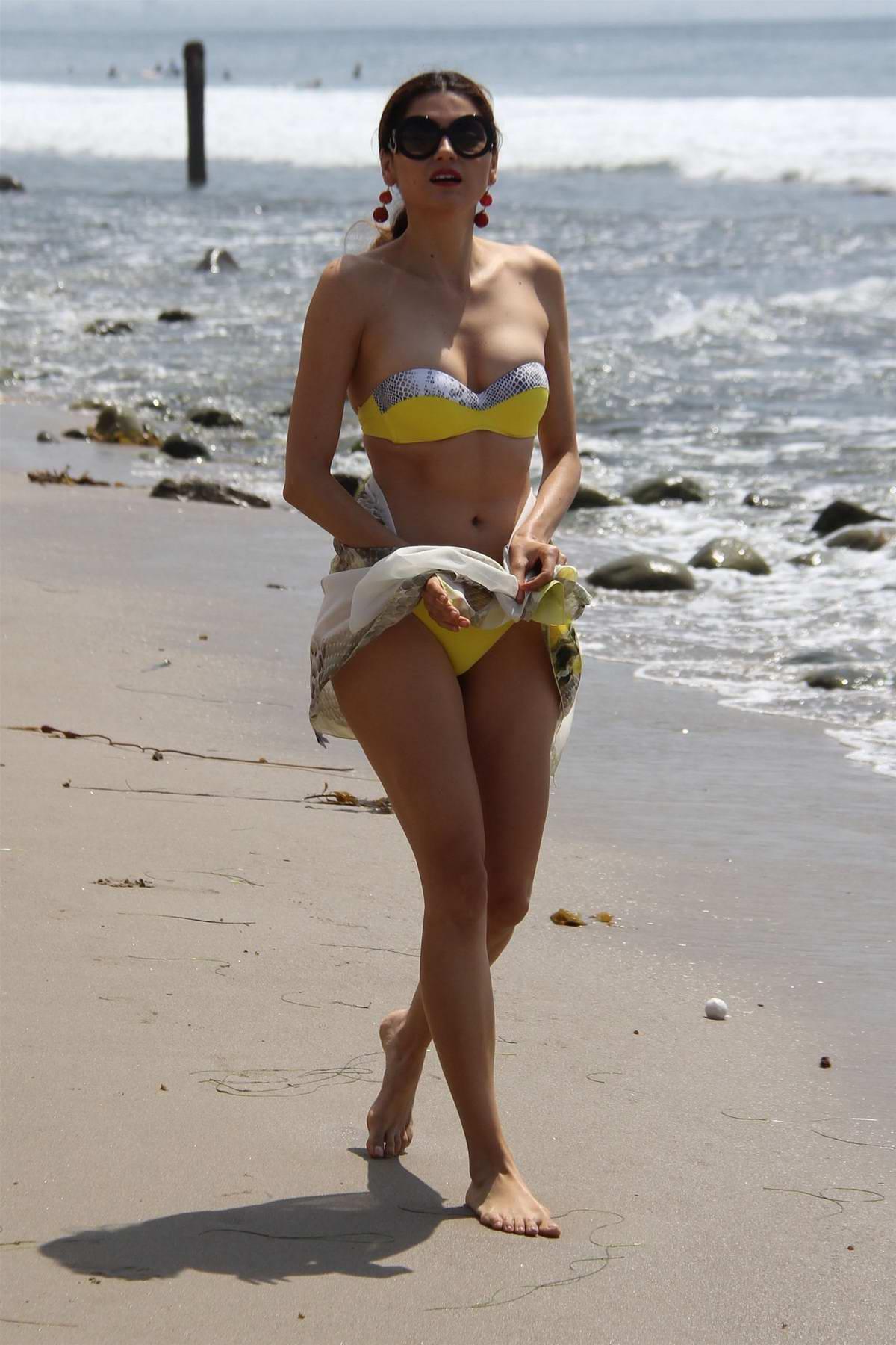 ed36d846dc blanca blanco in a yellow bikini while doing a photoshoot on the ...