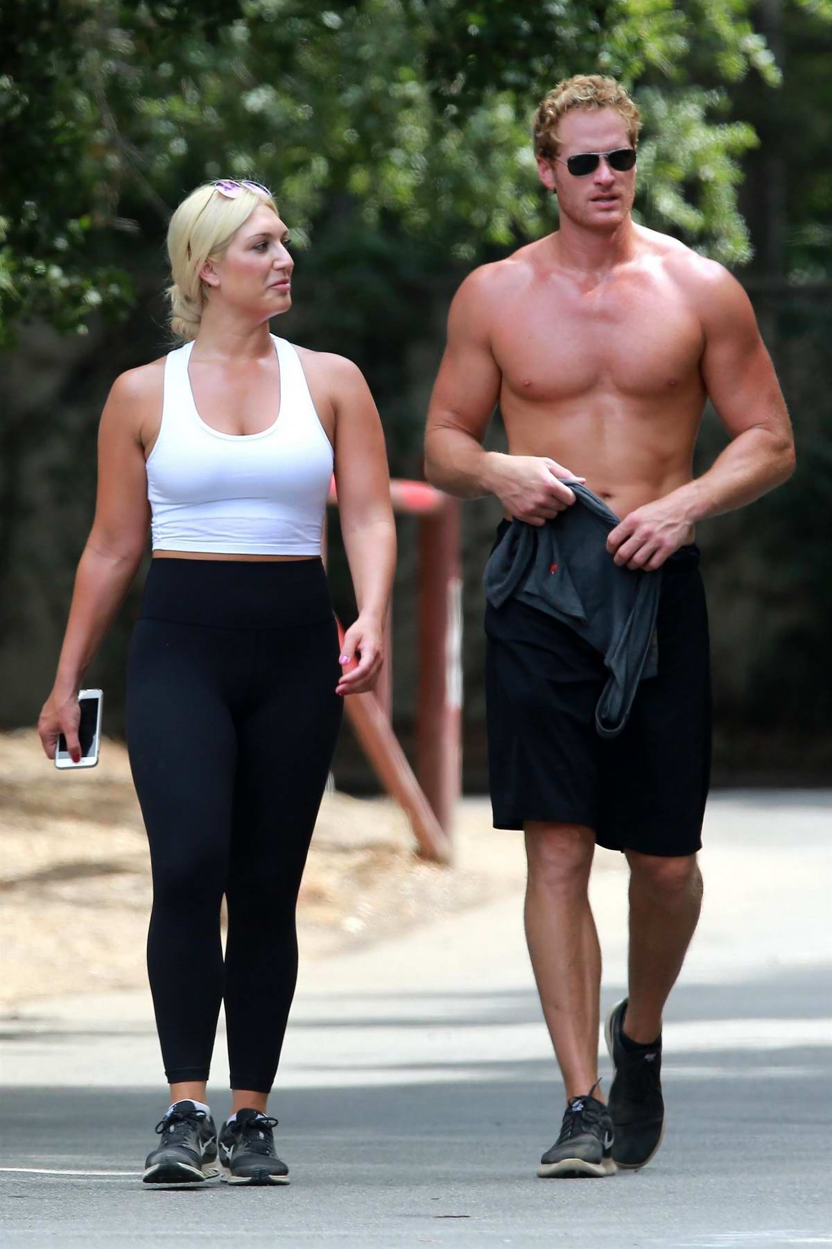 Brooke Hogan out for a casual hike with Friends in Studio City
