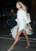 Candice Swanepoel attends fittings for Victoria's Secret fashion show in New York