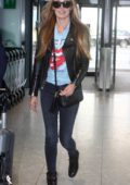 Cat Deeley arrives at Heathrow Airport in London