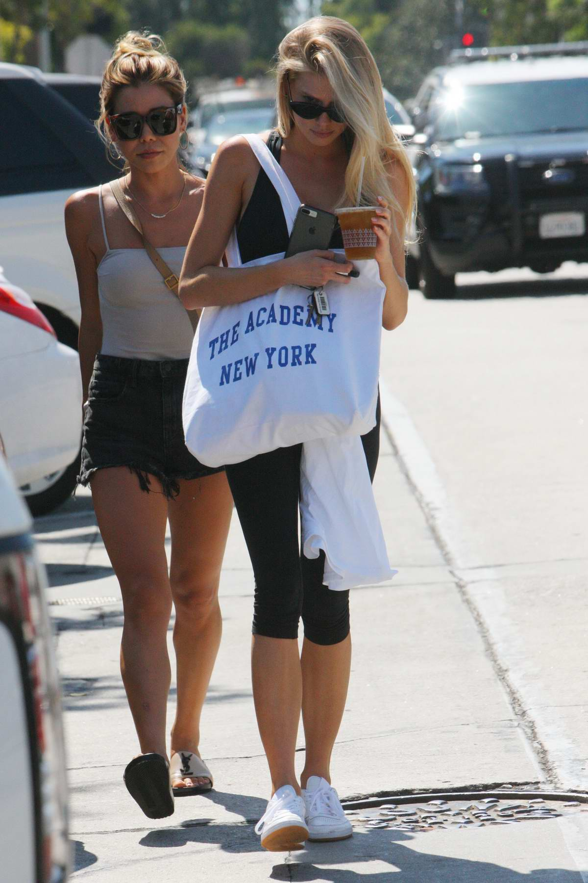 Charlotte McKinney is Camera shy while she is out and about in Los Angeles