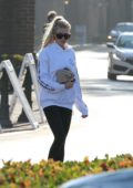 Charlotte McKinney out buying water at supermarket in Malibu