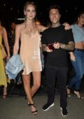 Chiara Ferragni attends a post VMA party at Beauty and Essex in Los Angeles