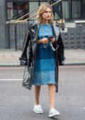 Chloe Lloyd looking trendy out in East London, UK