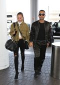 Chrissy Teigen and John Legend spotted at LAX Airport in Los Angeles