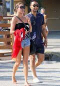 Chrissy Teigen and John Legend strolling around the dock while enjoying their vacation in Saint Tropez, France