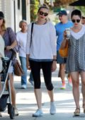 Danielle Panabaker leaving Joans on Third with Friends in Los Angeles