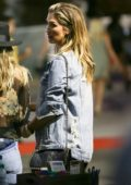 Delta Goodrem at John Mayer concert at The Forum in Inglewood, California