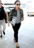 Demi Lovato departing from LAX Airport in Los Angeles