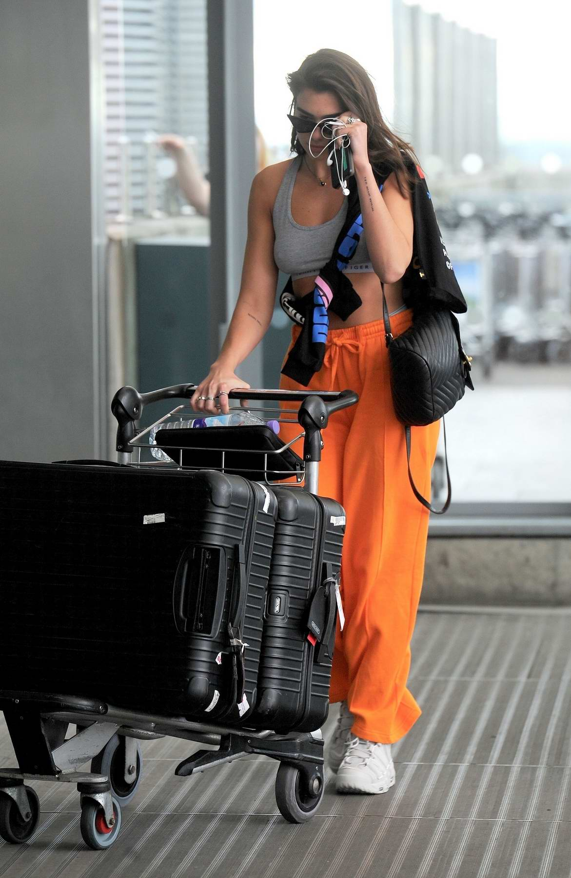 Dua Lipa Seen At Heathrow Airport Heading Off For Her Upcoming Tour Starting Off In Jakarta