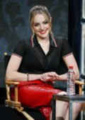 Elizabeth Gillies at 'Dynasty' Panel at TCA Summer Press Tour in Los Angeles