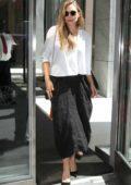 Elizabeth Olsen outside SiriusXM Studios in New York
