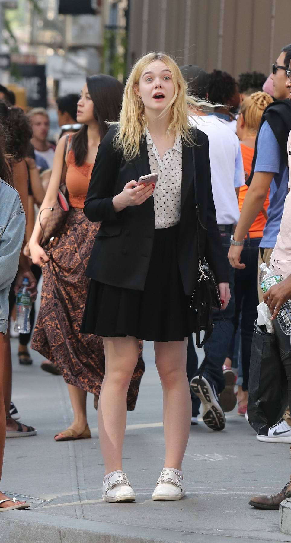 Elle Fanning out for shopping by herself in New York City