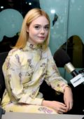 Elle Fanning visit SiriusXM Studios in New York City