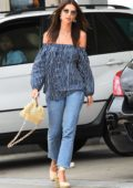 Emily Ratajkowski spotted at a Gas station in Los Angeles