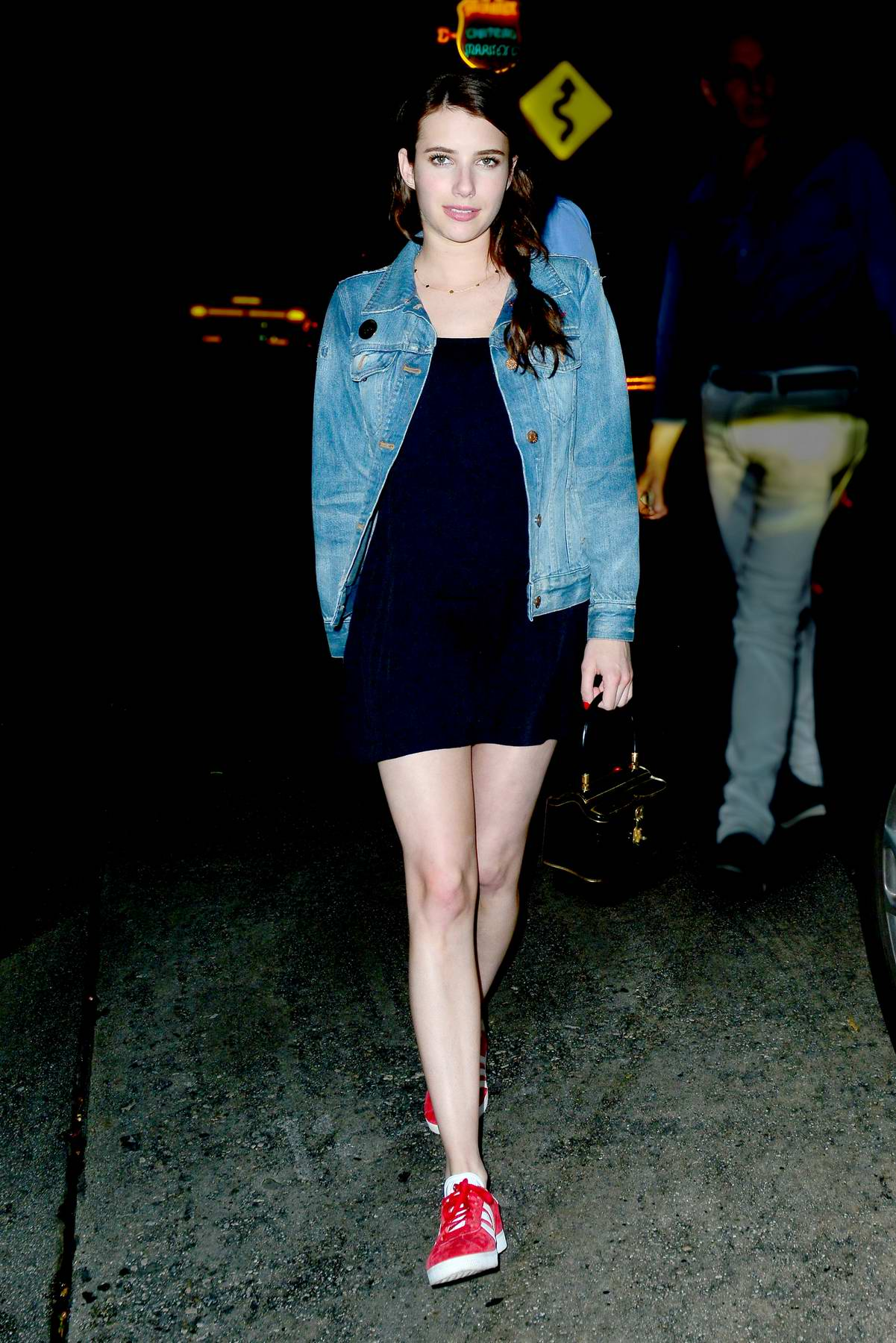 Emma Roberts leaving the Chateau Marmont Hotel after a business meeting in West Hollywood, California