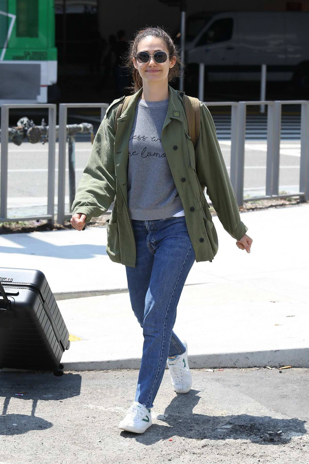 Emmy Rossum arrives to LAX Airport in Los Angeles