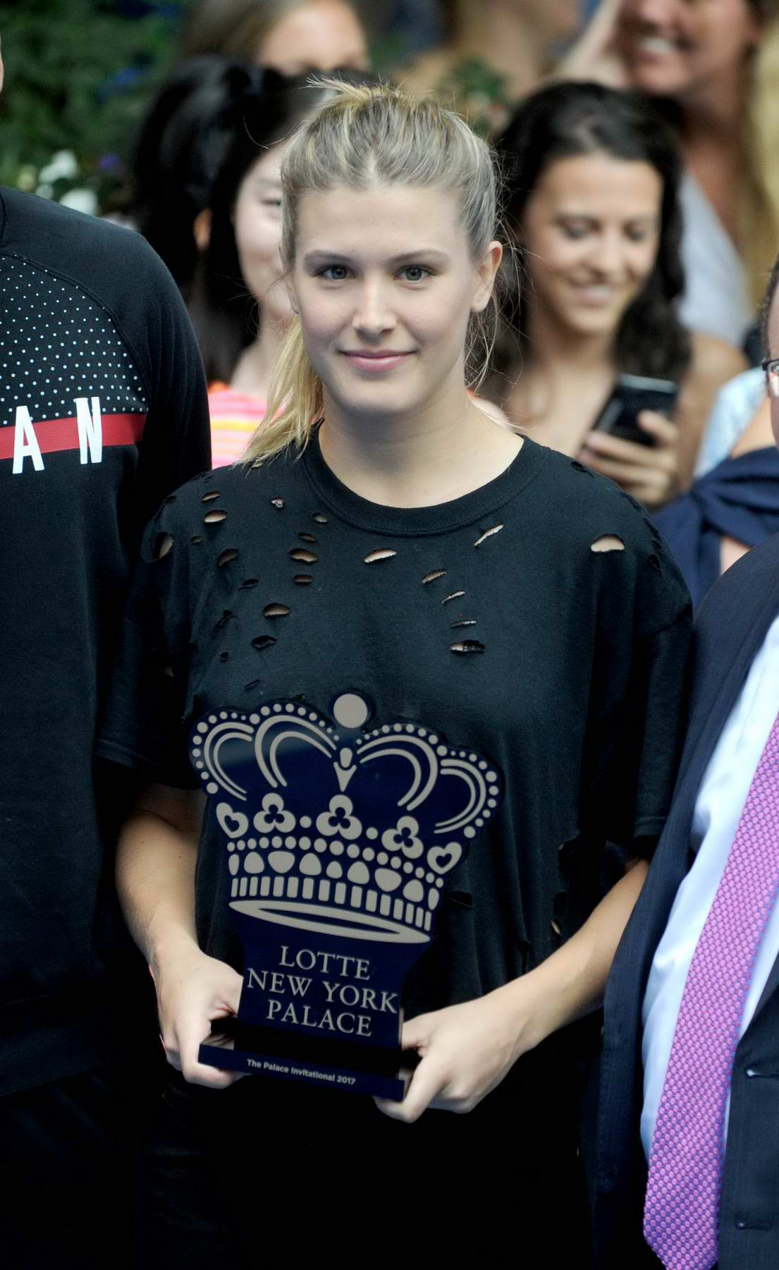 Eugenie Bouchard at Lotte New York Palace Invitational in New York