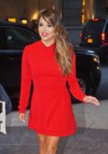 Eva Longoria dressed in red spotted out in Manhattan, New York