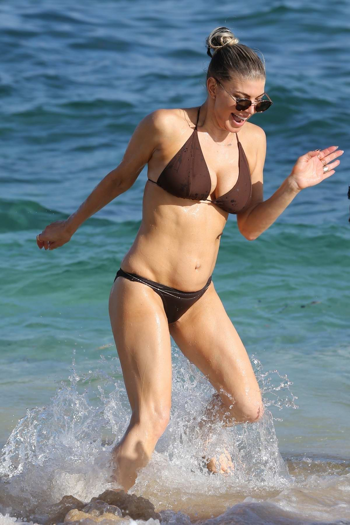 Fergie Duhamel in a Bikini enjoys her summer from home on vacation in Kauai, Hawaii