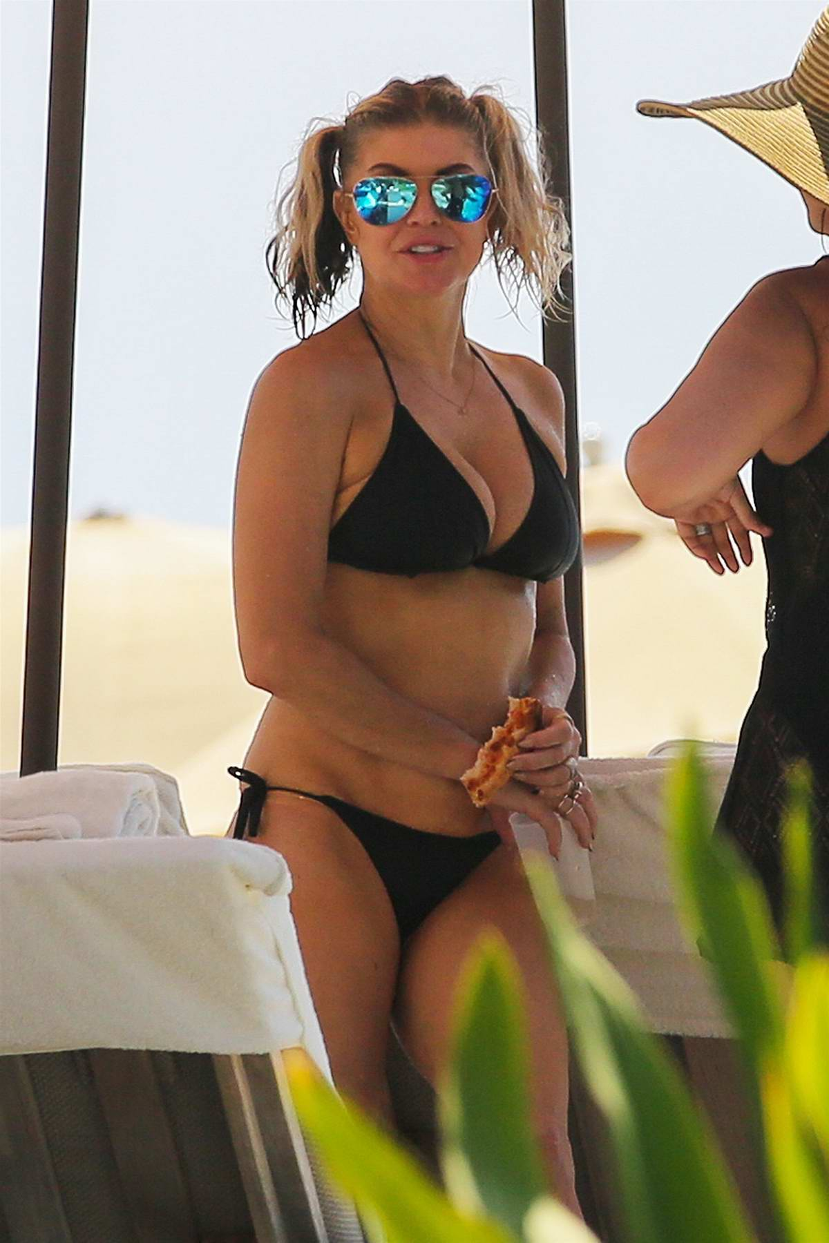 Fergie Duhamel in a Black Bikini continuing her vacation in Hawaii