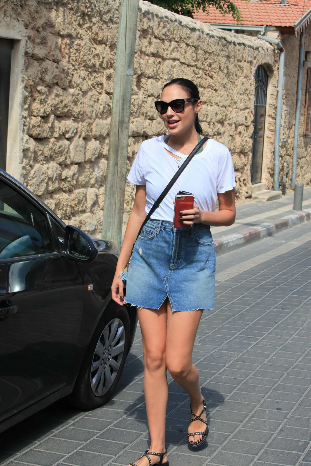 Gal Gadot out and about with a friend in Tel Aviv, Israel