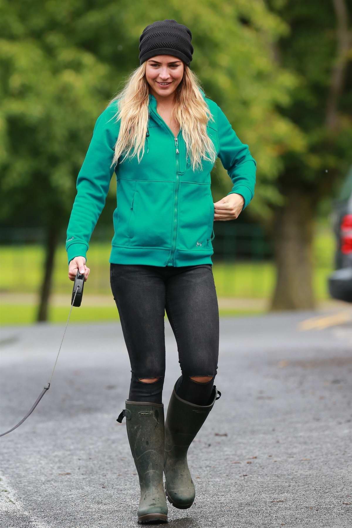 Gemma Atkinson at Charity Dog Walk in Manchester, UK