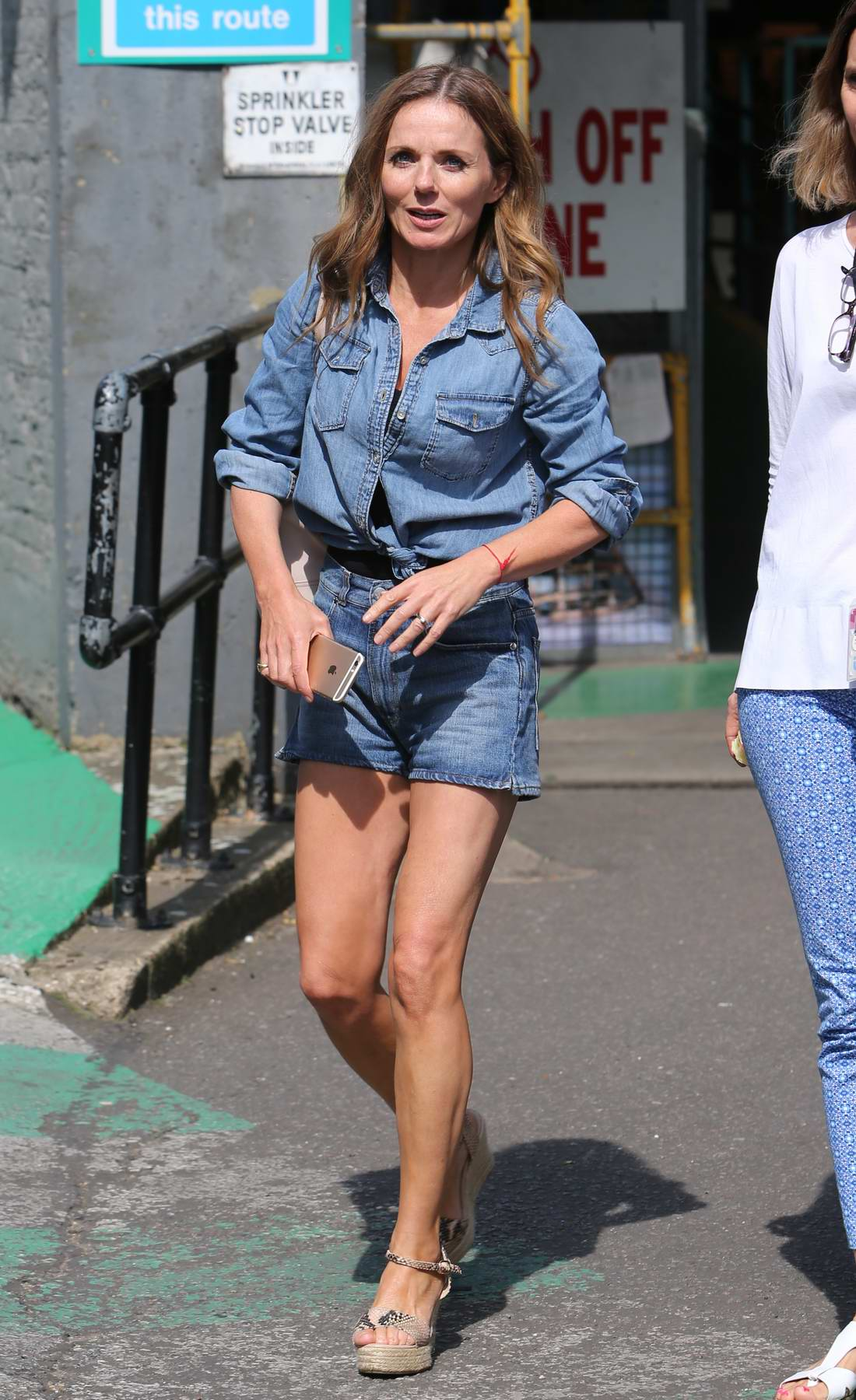 Geri Halliwell outside ITV studios in London