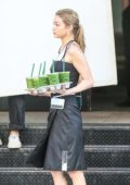 Gigi Hadid does a Photoshoot for Juice Press in Tribeca in New York