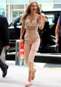 Gigi Hadid heading to the Victoria's Secret office in New York