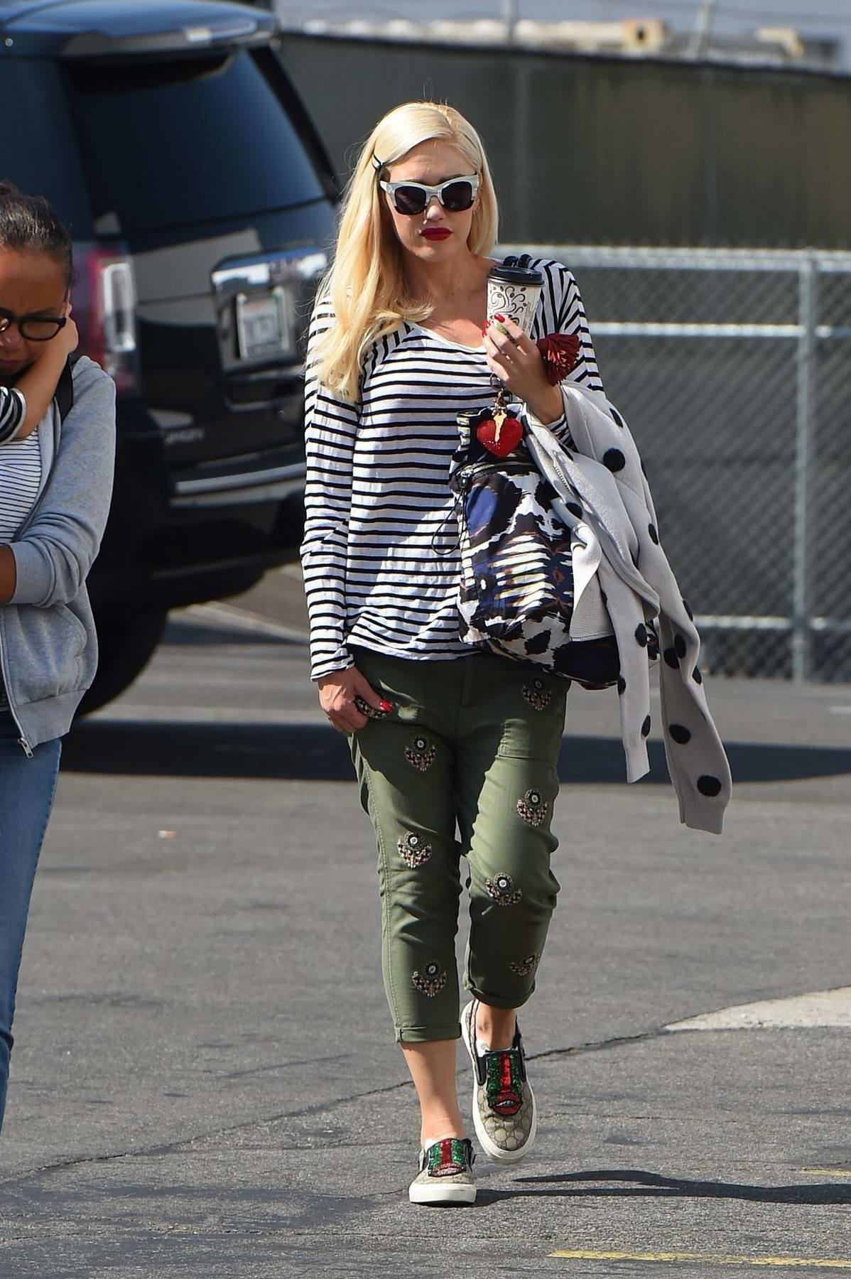 Gwen Stefani at Sky Zone Sports Park in Los Angeles