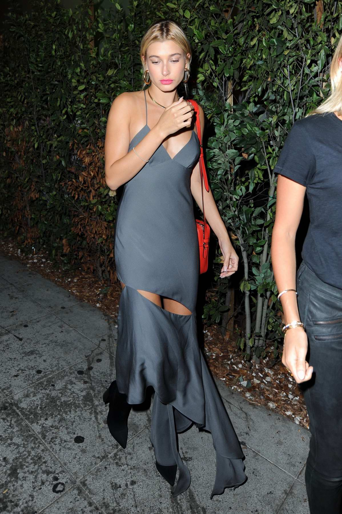 Hailey Baldwin leaving Delilah Night Club in West Hollywood