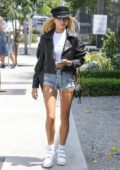 Hailey Baldwin out for lunch at Zinc Restaurant in Beverly Hills, Los Angeles
