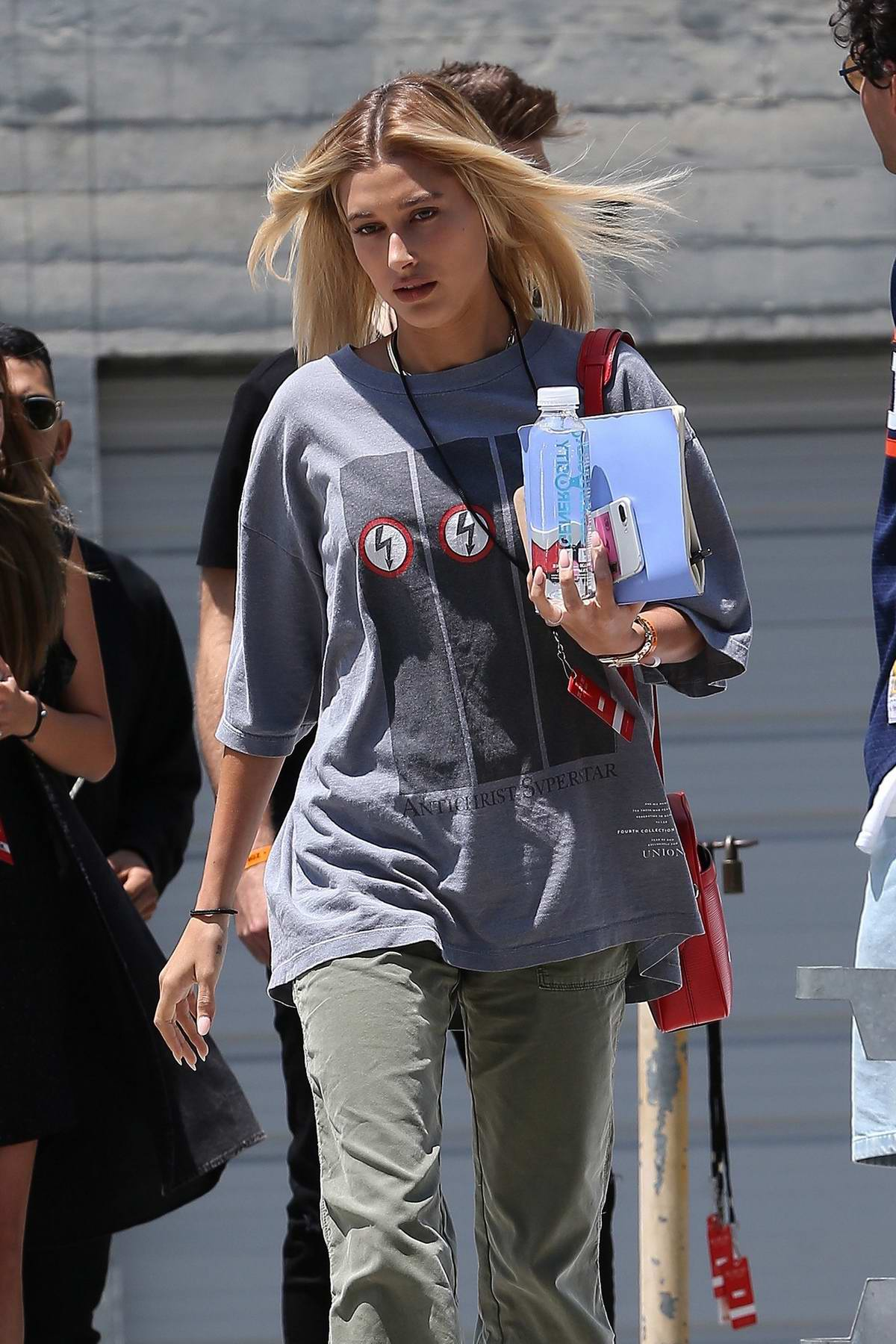 Hailey Baldwin spotted leaving Church in Los Angeles
