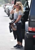 Hilary Duff heads to a dance class in Melrose Ave in Los Angeles