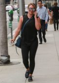 Hilary Duff stops by a Medical building in Beverley Hills, Los Angeles