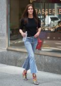 Hilary Rhoda attends castings for the 2017 Victoria's Secret fashion show in New York