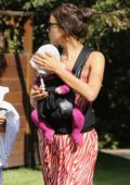 Irina Shayk taking a walk with her baby in Pacific Palisades in Los Angeles
