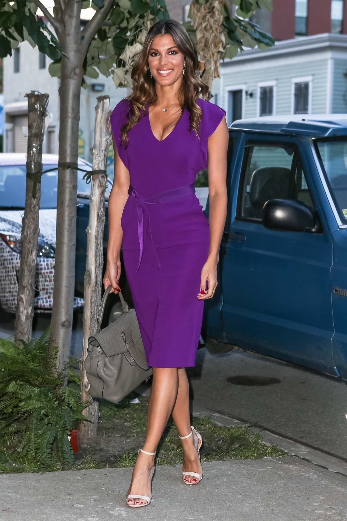 Iris Mittenaere visits the Michel et Augustin Banana Far in Brooklyn, New York