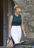 Ivanka Trump heads to work as she leaves her home in Washington DC