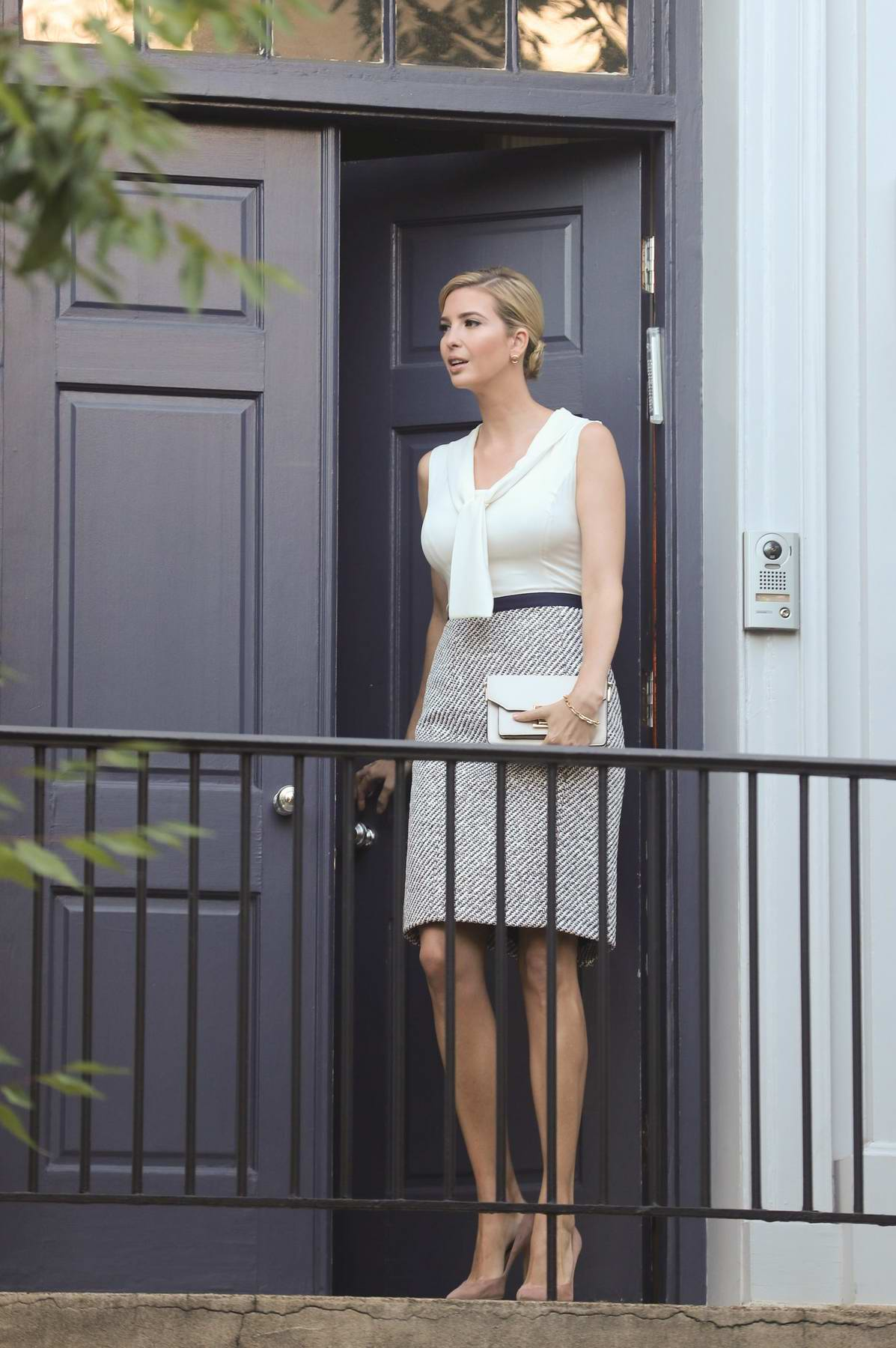 Ivanka Trump leaving her home and heading to work in Washington DC